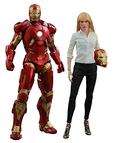 Hot Toys 1: 6Maßstab Mark IX Armor Iron Man 3Pepper Potts...