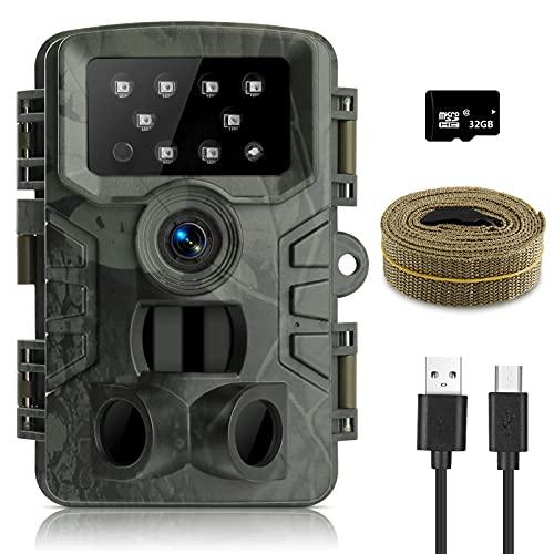 innislink Wildkamera,1080P 20MP Jagdkamera mit Infrarot...