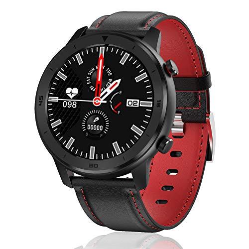 Popglory Smartwatch HR, Touchscreen 3,3 cm Fitness Tracker mit...