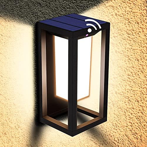 LEDMO LED Solar Aussenleuchten mit Bewegungsmelder LED...