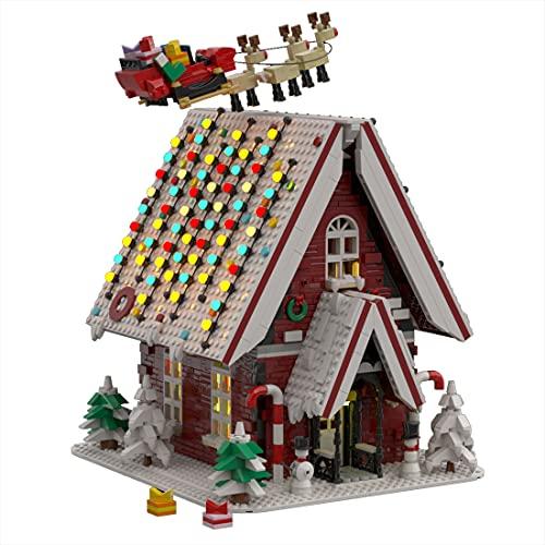 GUDA Weihnachten Bausatz,2840 Teile klemmbausteine Weihnachtsmann...
