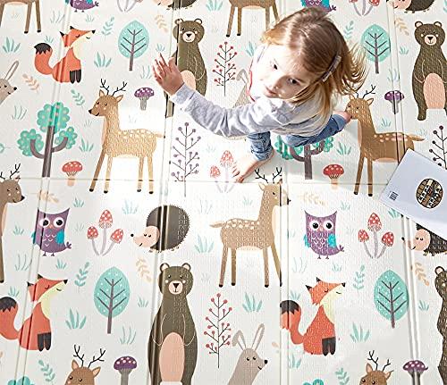 HB.YE Spielmatte baby Teppich Babymatte faltbarer Spieldecke...