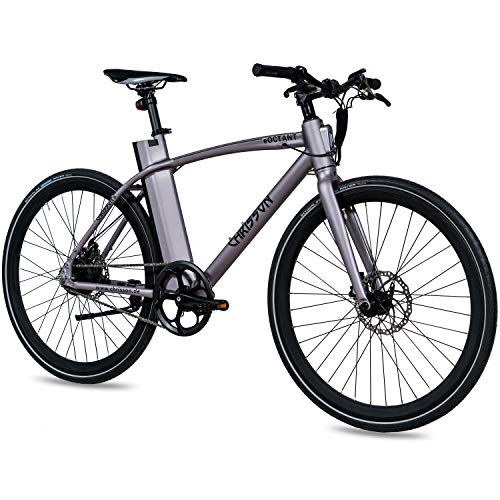 CHRISSON 28 Zoll E-Bike City Bike eOCTANT grau matt -...