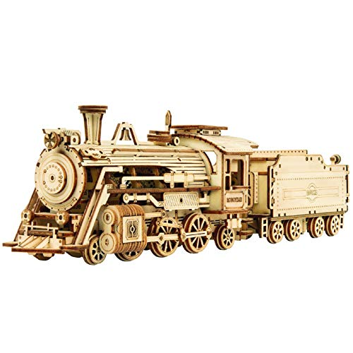 Robotime Dampflokomotive 3D Puzzle Model Kits Selbstmontage Mechanische Konstruktion Handwerk...