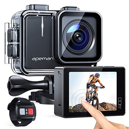 APEMAN Action Cam A100,Echte 4K 50fps WiFi 20MP Touchscreen...