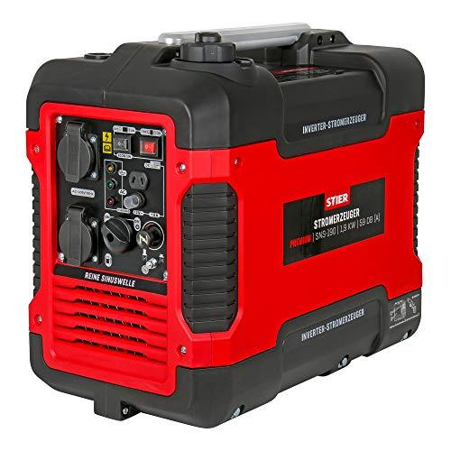 STIER Stromerzeuger Premium SNS-190, Strom Generator, Benzin, 4l...
