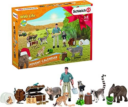 SCHLEICH 98272 Spielset - Adventskalender Wild Life 2021 (Wild...