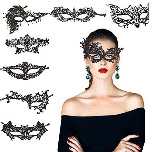 KAKOO 8 Modell Venezianische Maske Sexy Damen Spitze Augenmaske...
