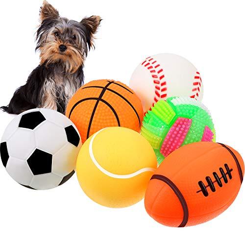 Gejoy 6 Stücke Haustier Spielzeug Ball Quietschend Licht Bälle...