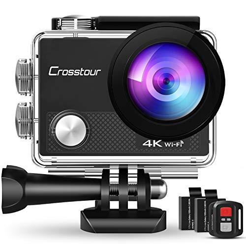 Action Cam 4K, Unterwasserkamera Crosstour CT9000 (20MP WiFi...