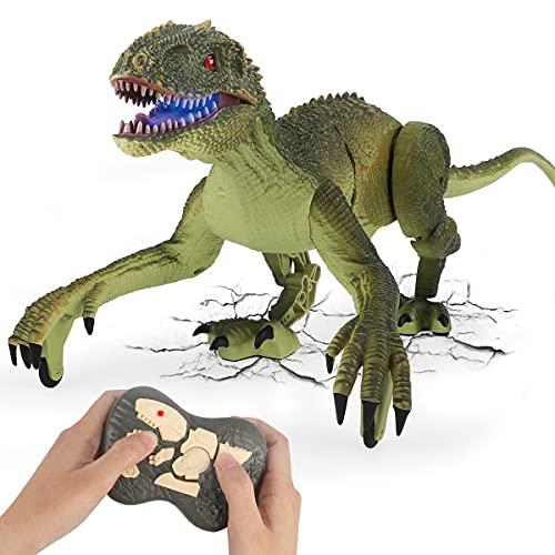 GILOBABY Ferngesteuerte Dinosaurier Spielzeug,Velociraptor mit...