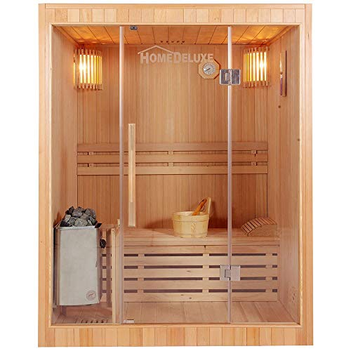 Home Deluxe - Traditionelle Sauna - Skyline L - Holz:...