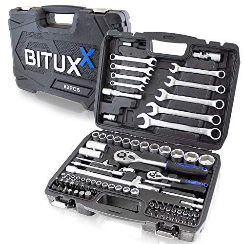 BITUXX® 82 Teiliges Werkzeugkoffer Knarrenkasten Werkzeugset...
