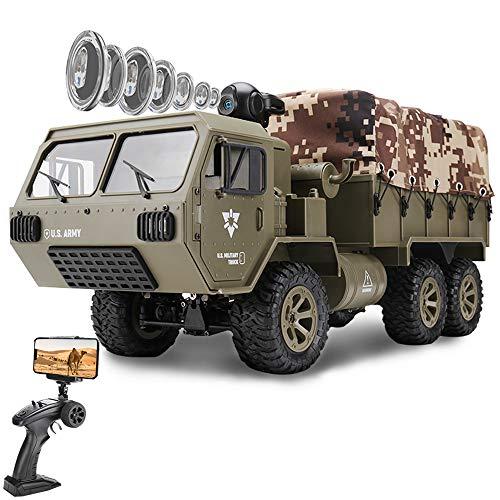 le-idea Ferngesteuerte Fahrzeuge - 6WD Militärfahrzeug Auto mit HD FPV WiFi Kamera 1/12...