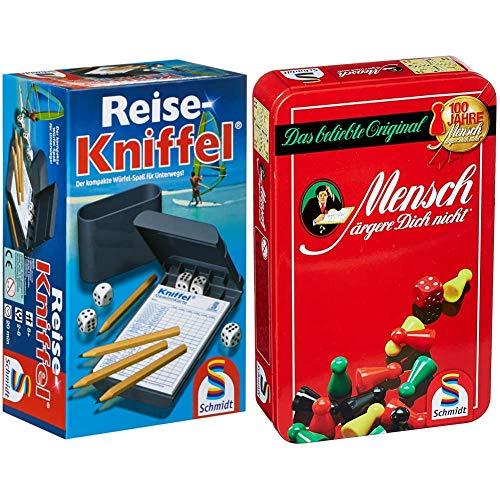 Schmidt Spiele 49091 Reise-Kniffel mit Zusatzblock, bunt & 51204 Mensch ärgere Dich...