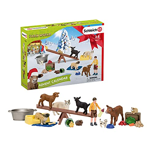 SCHLEICH 98271 Spielset - Adventskalender Farm World 2021 (Farm...