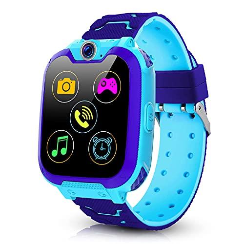 Vannico Smartwatch Kinder, Kind Uhr Telefon mit Musik 7 Spiele...