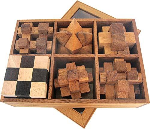 LOGOPLAY 6 Knobelspiele im Set - Spielesammlung 3D Puzzle -...