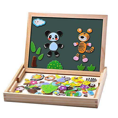 Uping magnetisches Holzpuzzle Staffelei doppelseitige Tafel...