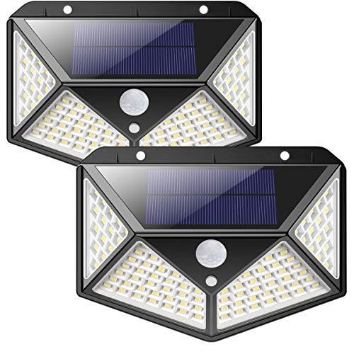 Solarlampen für Außen,【270 ° Vierseitige Beleuchtung-...