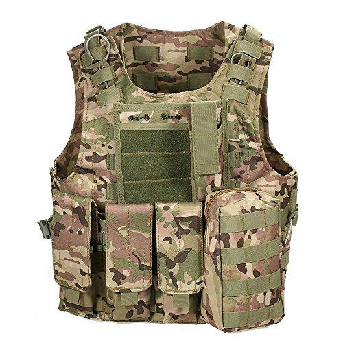 Lixada Taktische Weste Outdoor Molle Weste Modular Gear Carrier...