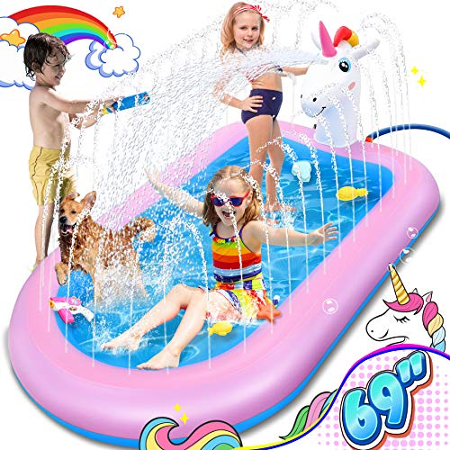LETOMY Splash Pool & Pad, Einhorn Planschbecken Kinder...