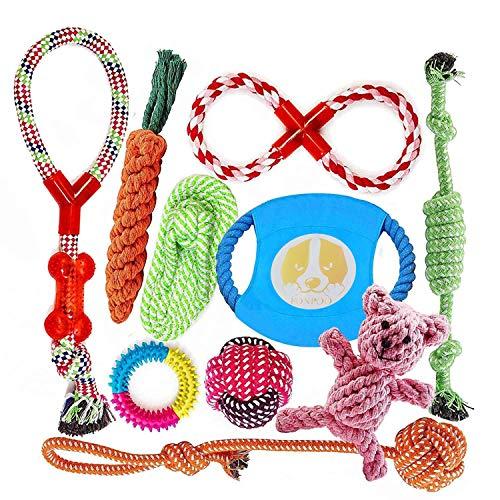 FONPOO Hundespielzeug, Hergestellt aus Natürlicher Baumwolle...