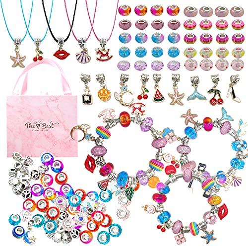 Mädchen Geschenke,Charm Armband Kit DIY, Geschenke für Mädchen...