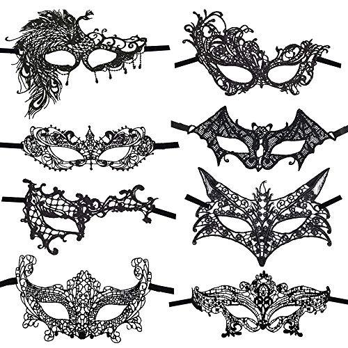 CODIRATO 8 Stück Masquerade Maske Venezianische Maske Sexy...