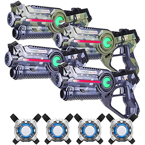 Light Battle Active Lasergame Set - 4X Laserpistole (camo grün,...