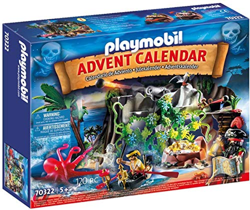 PLAYMOBIL Adventskalender 70322 Schatzsuche in der Piratenbucht,...