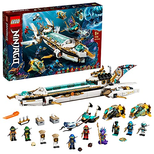 LEGO 71756 Ninjago Wassersegler, U-Boot Spielzeug für Jungen und...