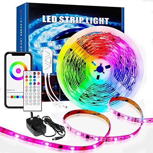 GreenSun Alexa LED-Lichtstreifen, 5 m, WLAN, Dreamcolor,...