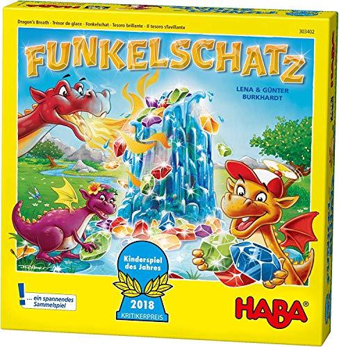 Haba 303402 - Funkelschatz Brettspiel, lustiges Mitbringspiel...