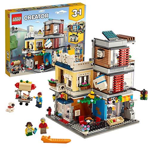 LEGO 31097 Creator 3-in-1 Set Stadthaus mit Zoohandlung & Café,...