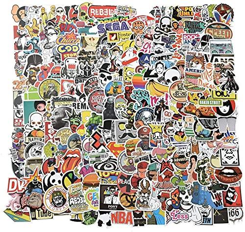 Willingood Aufkleber 200 Stück Wasserdicht Vinyl Stickers...