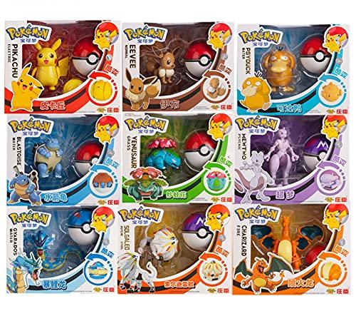 9Pcs Anime Spiel Pokemon Box Spielzeug Set Pocket Monster...