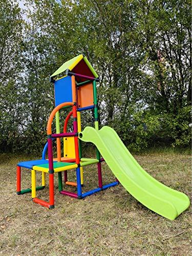 move and stic Toni Spielturm / Spielhaus Kletterturm mit Rutsche für Kleinkinder...