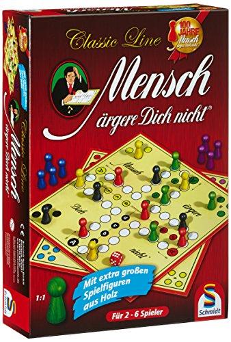 Schmidt Spiele 49085 Classic Line, Mensch ärgere Dich Nicht, mit...