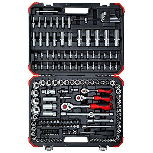 GEDORE red Steckschlüsselsatz, 172-teilig, Mit Umschaltknarre, Ratschen, Steckschlüssel und...