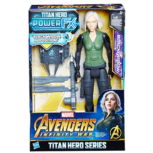 Hasbro Avengers E0614EW0 Titan Hero Power FX Black Widow mit...
