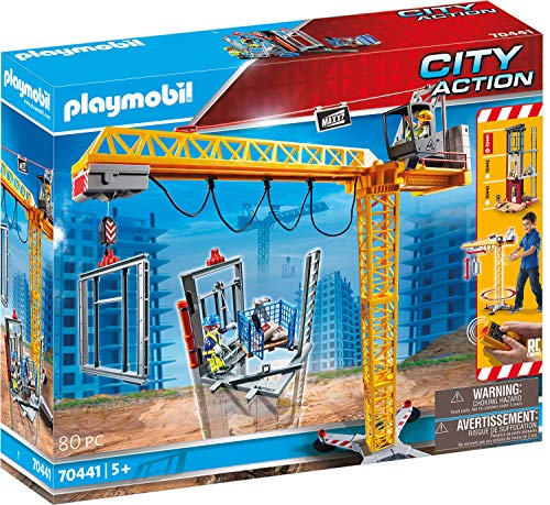 PLAYMOBIL City Action 70441 RC-Baukran mit Bauteil, Inkl....