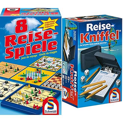 Schmidt Spiele 49102 - 8 Reise-Spiele, Spielesammlung,...