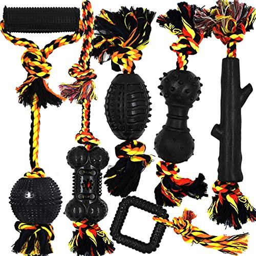 Yipetor Langlebiges Hundespielzeug Gummiball Seil Set,6 Stück...