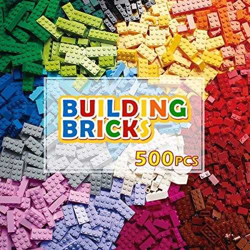 PANLOS STEM Baustein-Set, klassische Farben, 500 Teile, Bausteine...