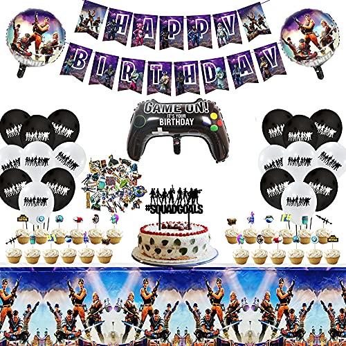 Fortnite Videospiel Geburtstagsparty Dekorationen Kit, 1 Banner,...