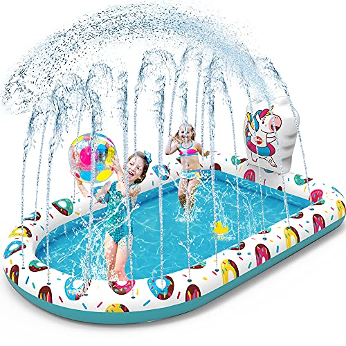 VATOS Splash Pad Sprinkler Planschbecken Play Matte 67'*45'...
