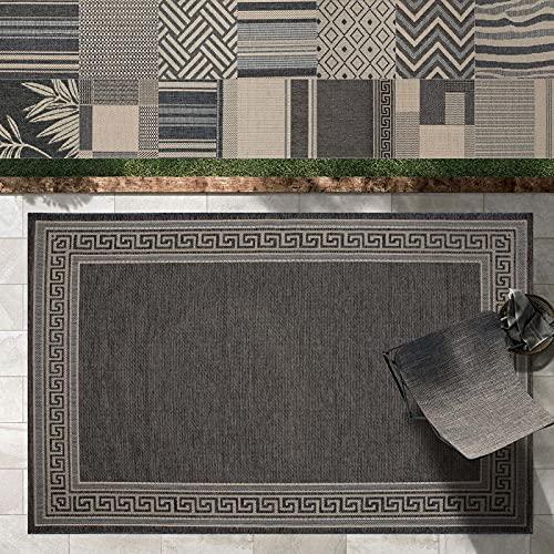 Outdoor Teppich Clyde für Terrasse und Balkon | wetterfester...