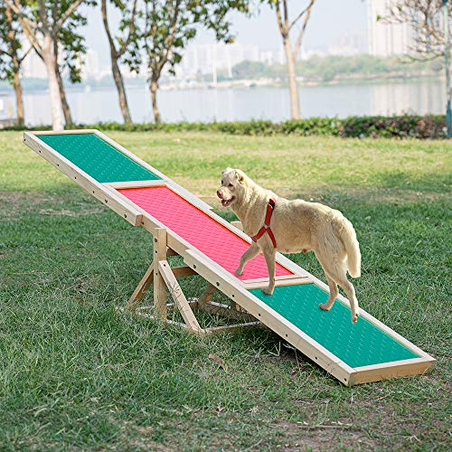 Namee Hundewippe 180x35x55cm Hunde Agility Wippe für...