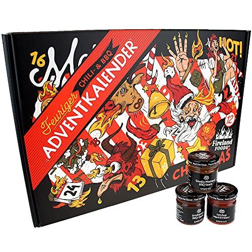 Chili- und BBQ-Adventskalender mit 24 Produkten | von mild bis...